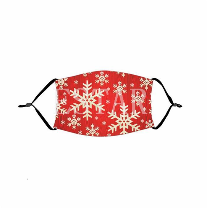 Schal Gesicht Weihnachten Masken Printed Weihnachten Cotton Gesichtsmasken Antistaub-Schneeflocke-Weihnachtsmundschutz Waschbar Wiederverwendbare mit Masken Filter