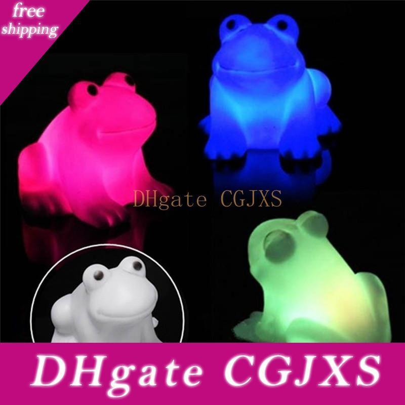 Renkli Magic Led Sevimli Kurbağa Gece Işığı Yenilik Lambası Led Enerji Tasarrufu Yenilik Lamba Q0867 değiştirme