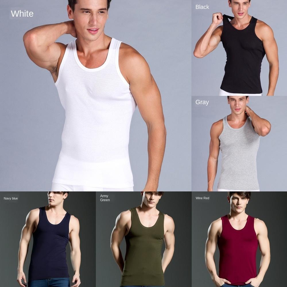 GdImW yaz New X6Uam erkekler eğlence yuvarlak boyun sıkı spor pamuk spor yuvarlak boyun sıkı spor ley yelek Yeni yaz erkek pamuk I şekilli