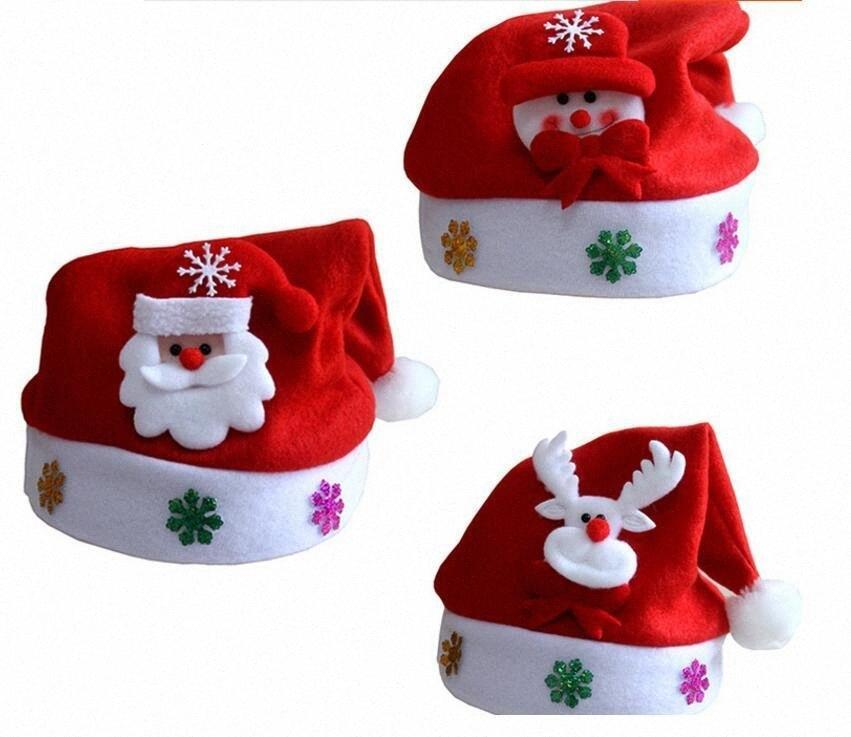Yeni Noel Dekorasyon şapkalar Yüksek dereceli Noel şapka Noel Baba şapkası Sevimli yetişkin Noel Cosplay Şapka Ücretsiz Kargo DE3X #