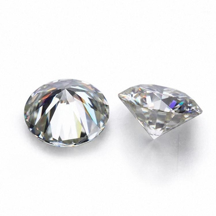 D Blanco Color de VVS forma redonda suelta sintético Moissanite diamante 0.6CT a 2CT Excelente Cut1 ypqV #