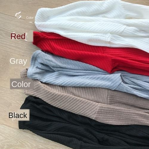 7qXPs ~ 2020 T-shirt autunno e inverno nuova casuale dimagrimento tutto-fiammifero colore di base manica lunga solido T-shirt da donna