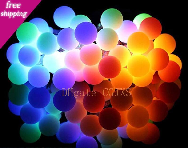 10m 100 LED-Kugeln Globes Fee führt Schnur-Glühlampen Multicolor-Partei-Hochzeit Weihnachtsgarten im Freien Dekor