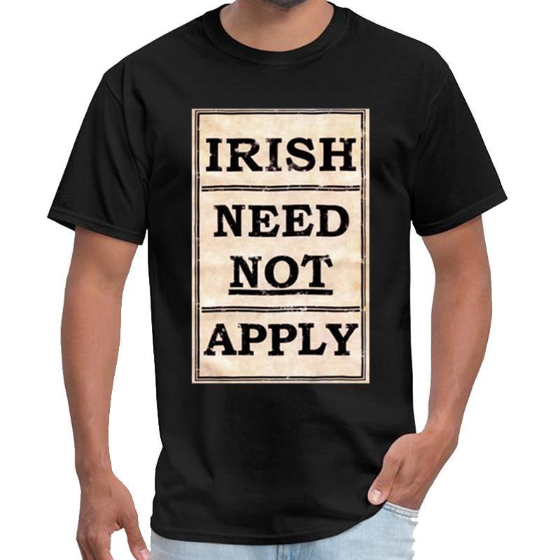 Impresión irlandesa de la vendimia no aplicar camiseta mens URSS camisetas Símbolo camiseta XXXL 4XL 5XL lema