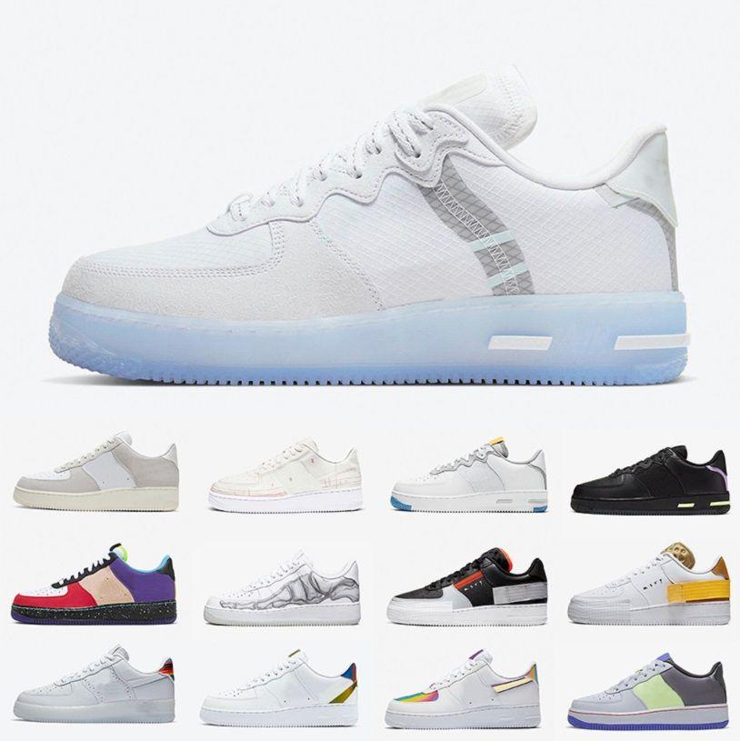 Reaccionar Blanco Hielo N354 Reaccionar Dunk Sombra 1 Manos bajos Running Zapatos Dunks Hombres Mujeres Plataformas Entrenadores Deportes Zapatillas Chaussures Zapatos