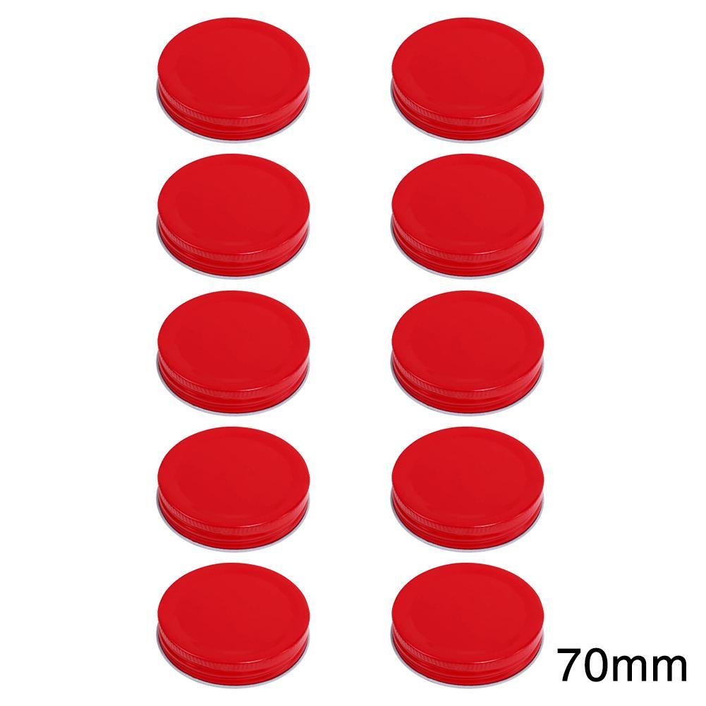 10pcs de la hojalata de almacenamiento de piezas de repuesto Caps Canning tapas a prueba de herrumbre Mason Jar