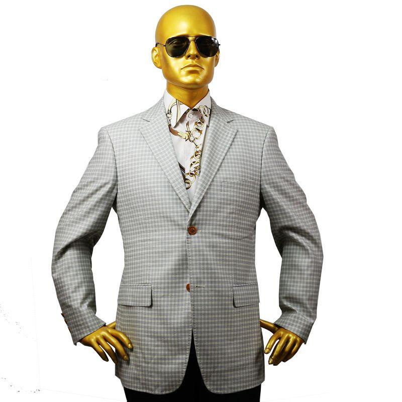 custom tailor made Men's bespoke suits business formal wedding ware bespoke 2 piece Jacket coat pant white grey plaid wool slim