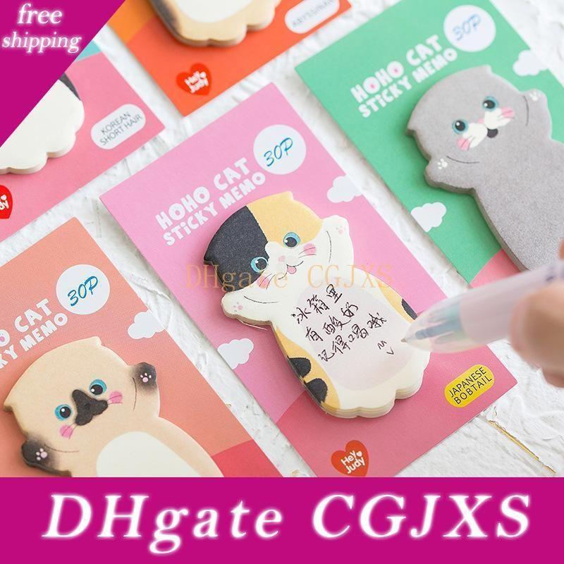 Sevimli Kedi Serisi Yapışkan Not Öğrenci Mesaj Sticker N Times Memo Pad Scrapbooking Okul Etiket Kırtasiye