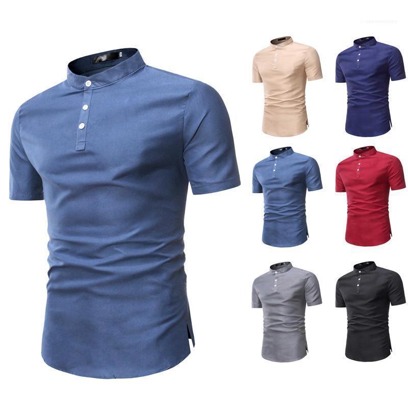 Casual Brett-T-Shirt Homme Summer Style Dayly T-Shirt neue Art und Weise, Kleidung, Lässige Kleidung Mens Solid Color-T-Shirt Männlich