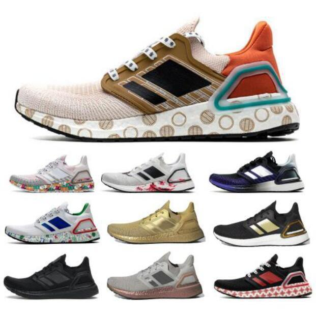 2020 Ultraboost 20 UB 6.0 Running Shoes Mens Ultra Se tripla arancione Global Currency Metallic Gold Run Luce Zapatos formatori Sneakers 36-45