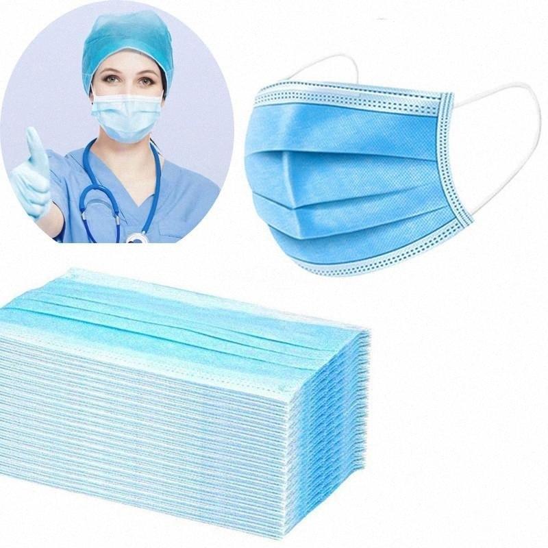 Тканые Анти 3 Маски Ply Загрязнения Non маска с эластичным ушной рот маски Цвет синий или белый Быстрая доставка # 745 ziI4 #