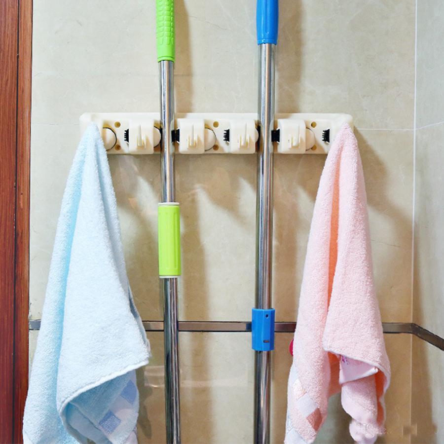 الجملة الممسحة المنزلية فرشاة شماعات متعددة الوظائف مطبخ منظم الممسحة حامل حامل أدوات المطبخ فرشاة المكنسة تخزين الأدوات DH1147 T03