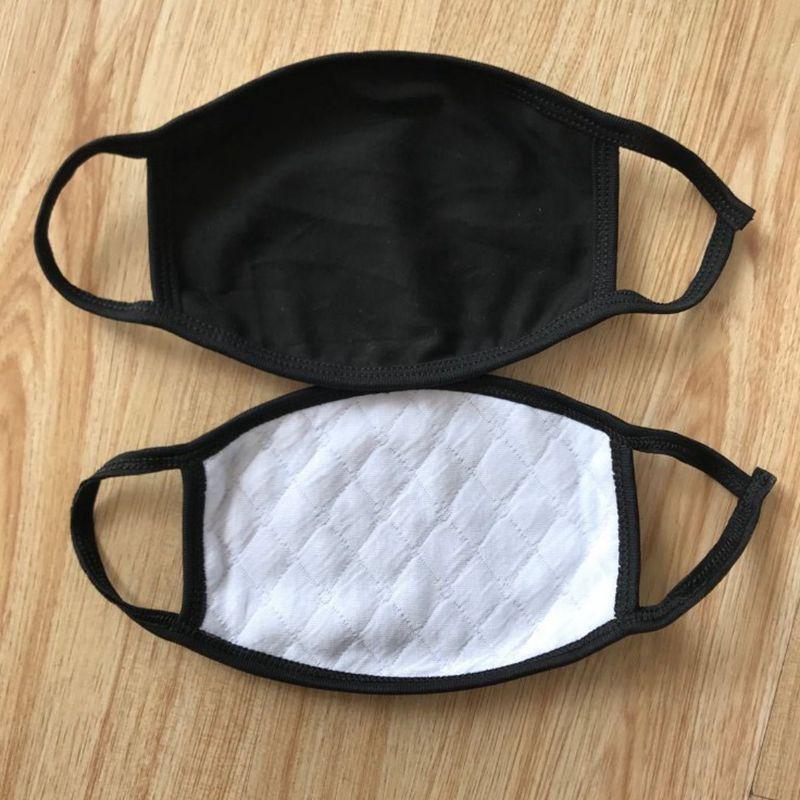 masques réutilisables en tissu noir mode extérieur masque bouche individuels masque visage lavable KC08277