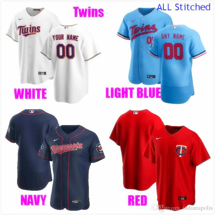 Coutume des femmes des hommes jeunes de base-ball Maillots Accueil Sport Équipes authentiques Ligue américaine personnalisée GEaR jersey Cousu 4XL 5XL 6XL