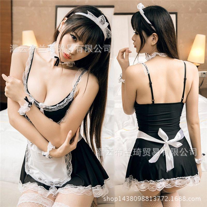 W8cky sexy palco vestiti della domestica uniforme della biancheria intima vestiti biancheria intima della domestica uniforme Costume di scena y189 prestazioni tentazione