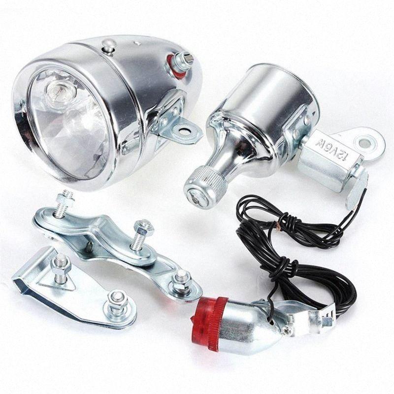 Cycling Dynamo Powered Headlight and Rearlight Bike Tail Light Bike Light Set Dynamo-Powered zrJB#