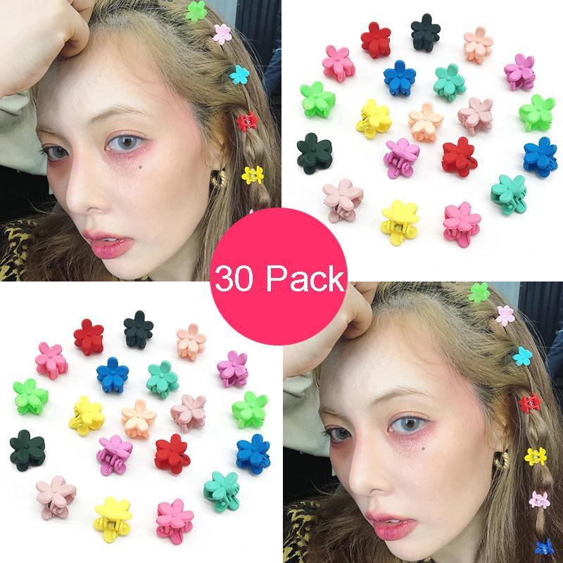 30 PC Petal Haar-Klipp-Mädchen Schönes Mini-Blumen-Haar-Klipp-Haar-Zubehör für Mädchen und Frauen 8 Arten