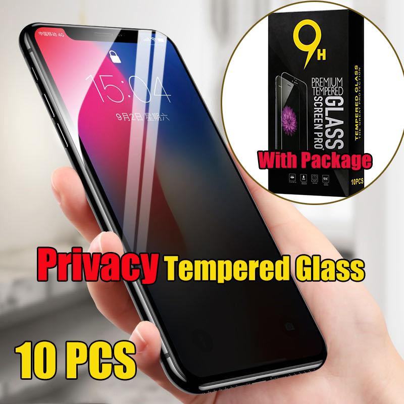 iPhone Para Guard Film premium privacidade vidro temperado Privada protetor de tela Proof 12 Pro Max 11 XS XR X 8 7 6 6S Além disso SE 2020, com Pacakge