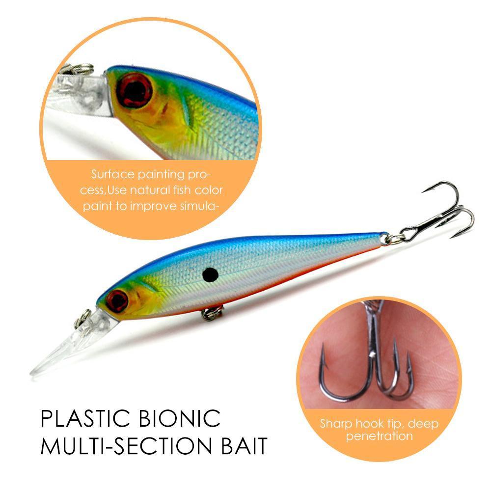 9.5g / 10,5cm Fischköder Kurbel künstlichen Kunststoff-See Fluss Ozean Fliegenfischen Haken großen Spiel schwimmend