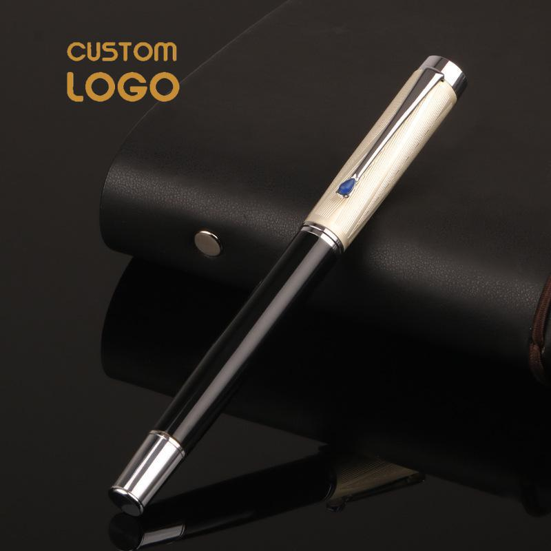 Fountain Pens Luxury Fillable Pen 0.5mm Oficina Papelería Nib Escuela Regalo Estudiante Metal Metal Metal