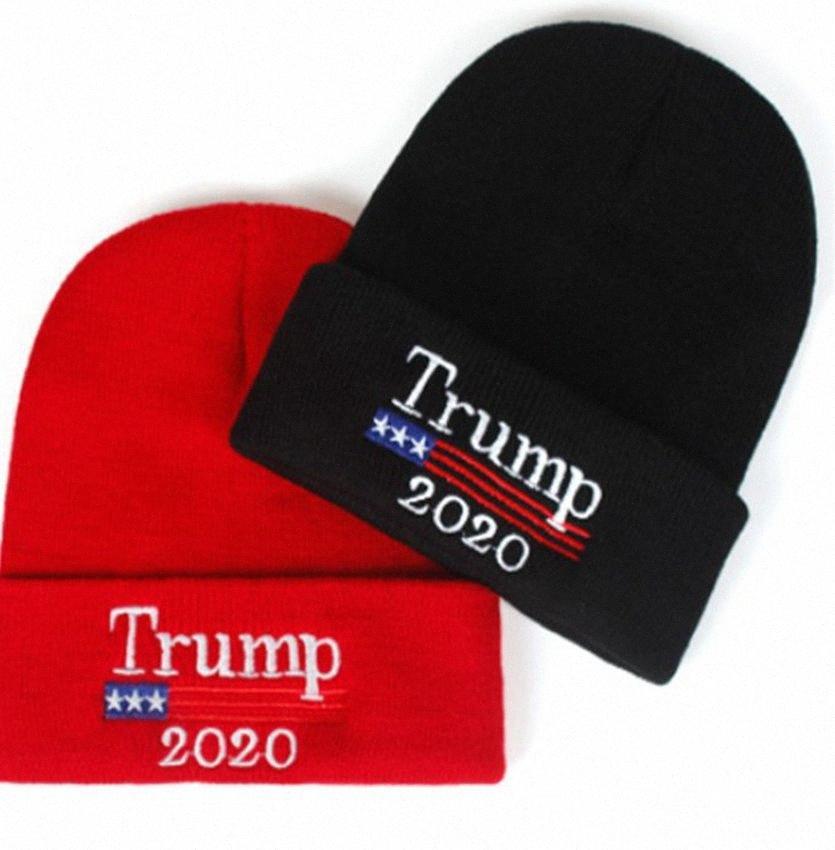 Trump 2020 cappello lavorato a maglia 2020 adulti Elezione Cap USA Flag invernale ricamo Cap favore di partito regalo calda dei cappelli KKA7975 chXl #