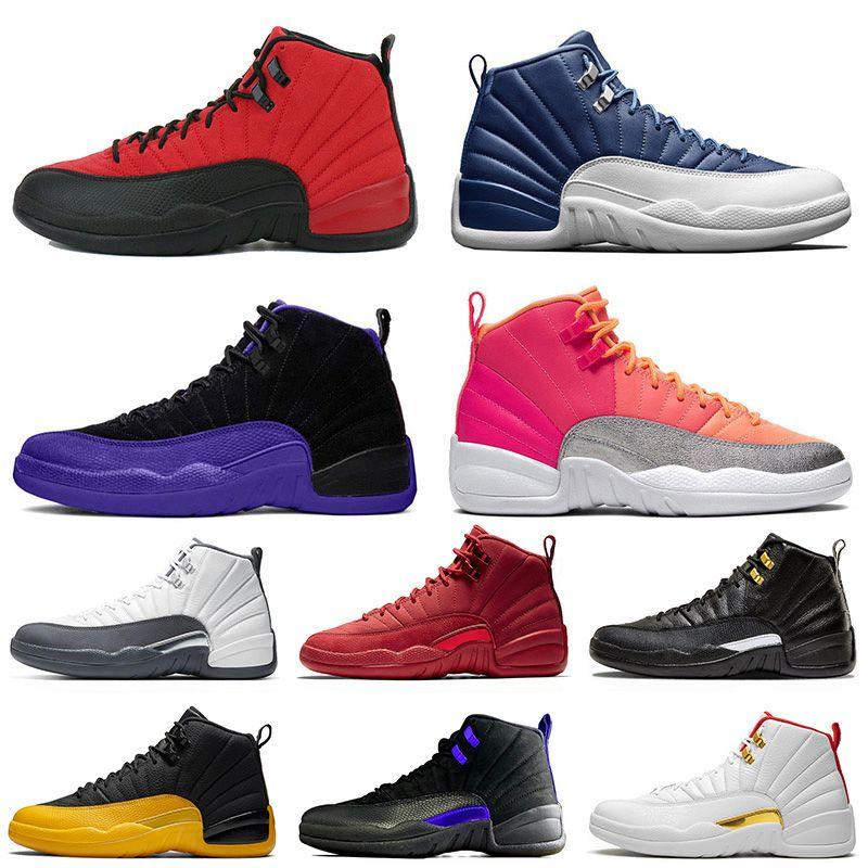 Air Jordan retro 12 Winterized Wntr тренажерный зал Red Bulls мужские 12 12S баскетбол обувь Мичиган Бордо мастер гриппа игры такси XII спортивные тренеры кроссовки размер 7-13