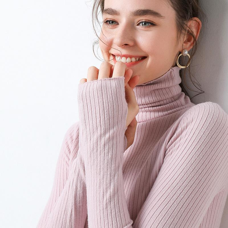 2020 Fashion Women Sweaters Autumn Winter Turtleneck Sweater Women's Casual Loose Pullover Jumper Pull Plus Size