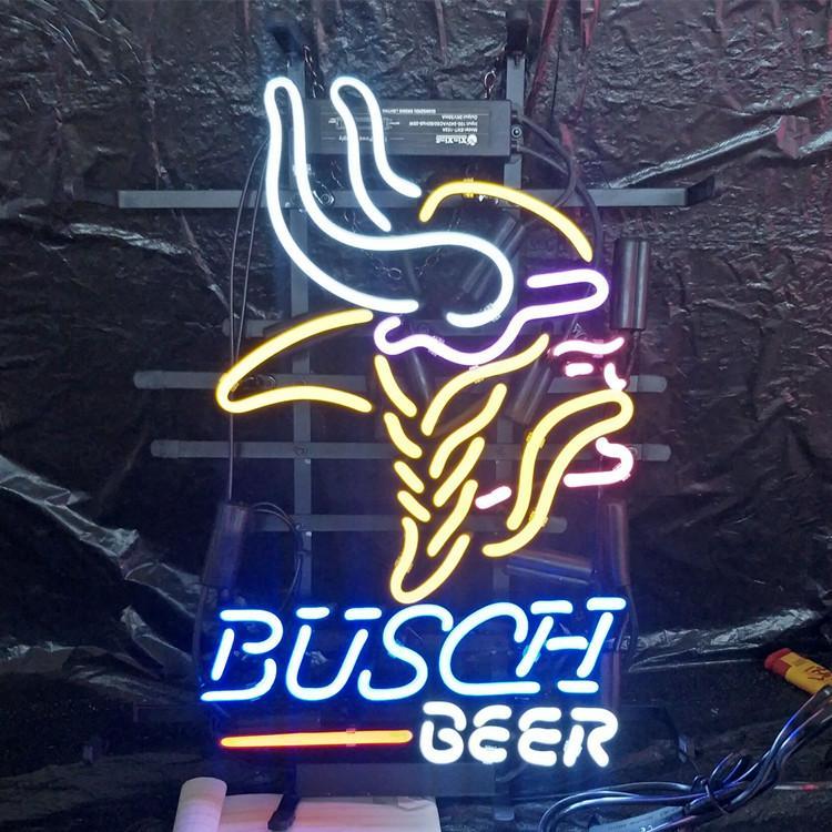 BUSCH BIRRA Neon Sign luce esterna Bar Club Mostra Spettacolo decorazioni della luce al neon della lampada con la protezione del telaio in metallo