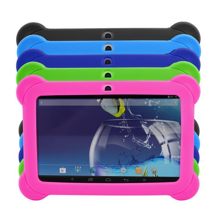 """7의 경우 어린이의 부드러운 실리콘 고무 젤 케이스 """"7 인치 Q88 A23 안드로이드 태블릿 PC (10) 다채로운"""
