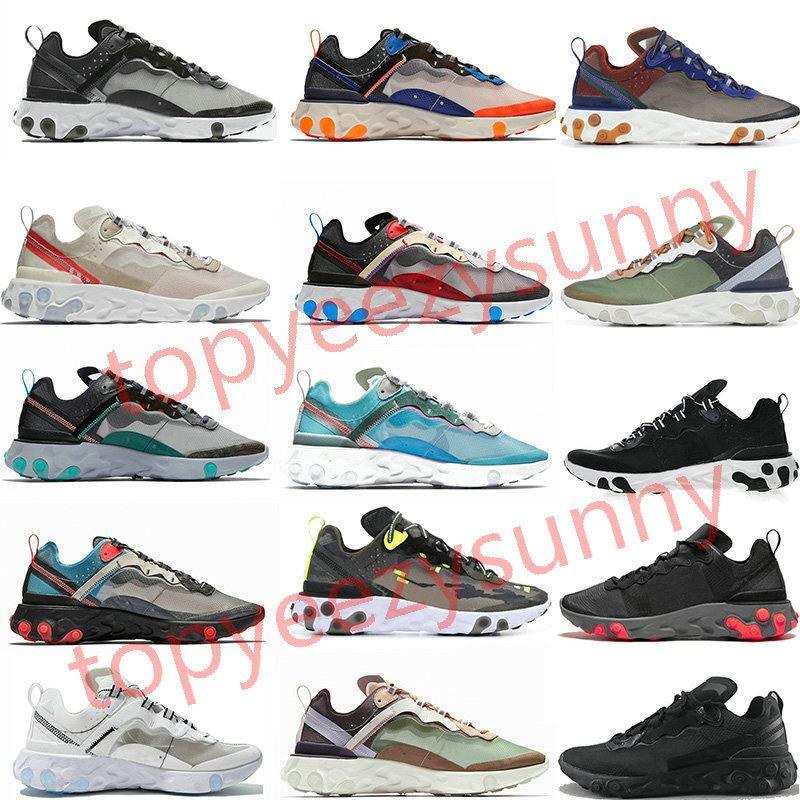 React Element 87 55 Running shoes Undercover 87 55 de course pour les femmes Chaussures de sport Sport Hommes Entraîneur Chaussures Voile légère os royal Tint