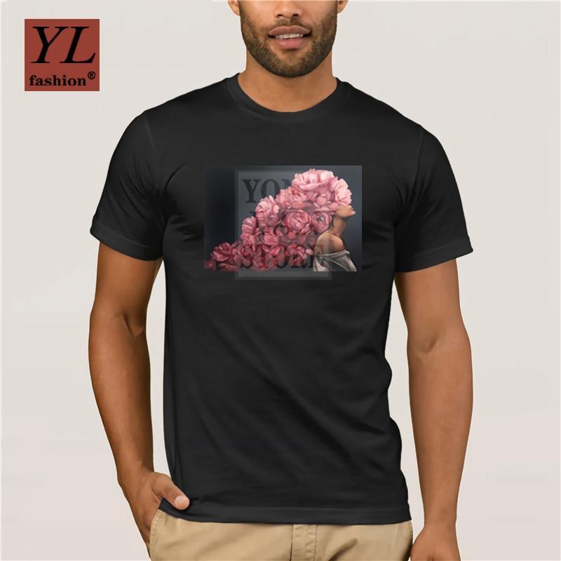 Blossom Flower Girl Art T Shirt Uomo Donna Hipster 100 cotone morbido o collo Vogue Tops