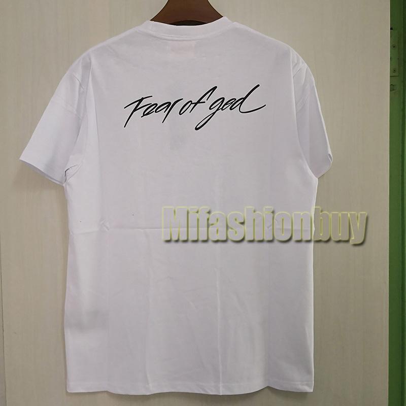 2020 Printemps Eté Europe Amérique FOG peur de la collaboration graffiti dieu T-shirt Mode Hommes Femmes T-shirt décontracté Coton T