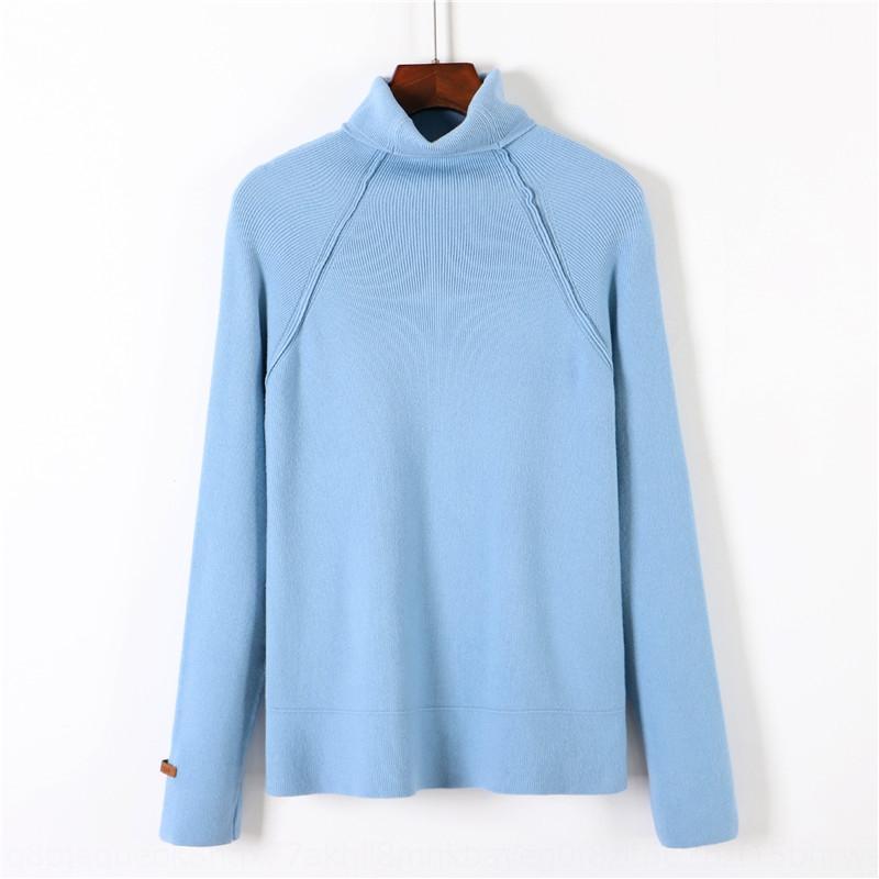 3my7e cuello alto suéter y nueva jersey de manga larga camisa de la base de la mujer de invierno de punto 2019 de las mujeres camisa de otoño