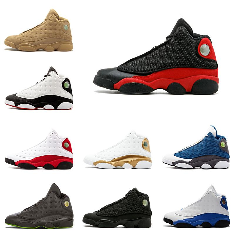 Black Mens Basketball Shoes Wholesale Cat 13s Bred Chicago Playoffs Hyper Royal Wheat 13 Trainers Sneaker Men Sports Shoe Size 8-13