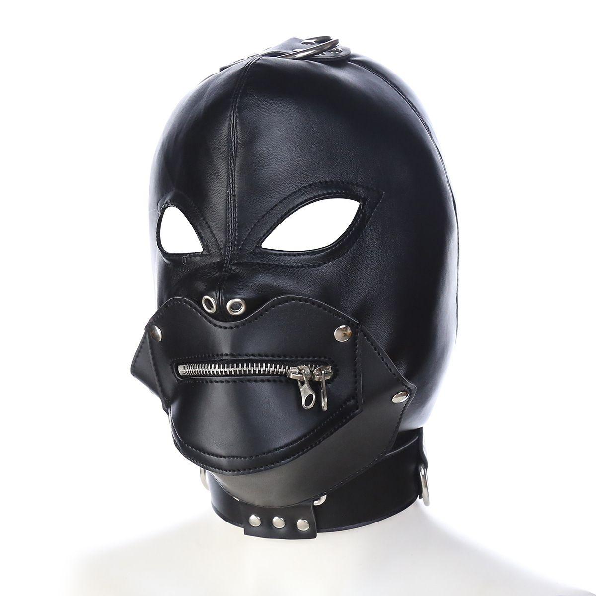 Jeux Pu Adult Sex Headhood Produits Sex tête Hoods tête Masques adultes Jouets pour couple et amoureux