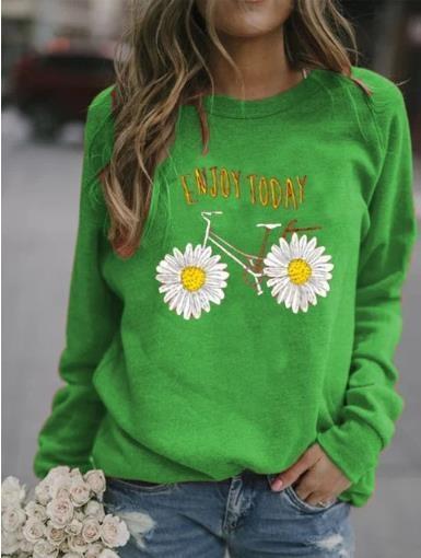 2020 Frauen Herbst und Winter Pullover Pullover New gedruckt Pullover beiläufige lose Rundhals Langarm-Pullover für Frauen knXbp