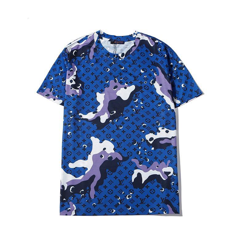 Mode Luxuxentwerfer Männer T-Shirts der Männer-T-Shirt mit Buchstaben Sommer Kurzarm Herren T-Shirts Medusa-T-Shirt Kleidung E2