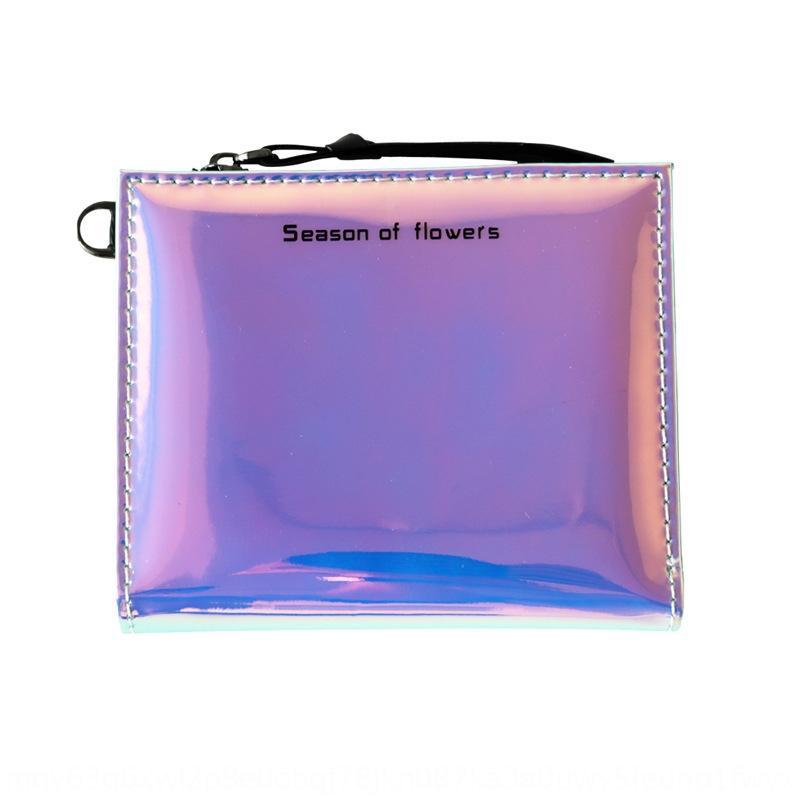 fermeture à glissière 2020 COU laser zipper femmes portefeuille à court style coréen joli portefeuille multi-fonctionnel deux fois 37KI6