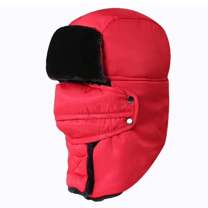 Crianças 8 cores Windproof Dustproof respirável Elastic Skiing caça lã quente Capacete Cap mais grossa de veludo inverno Crianças Hat DH0535-1T03