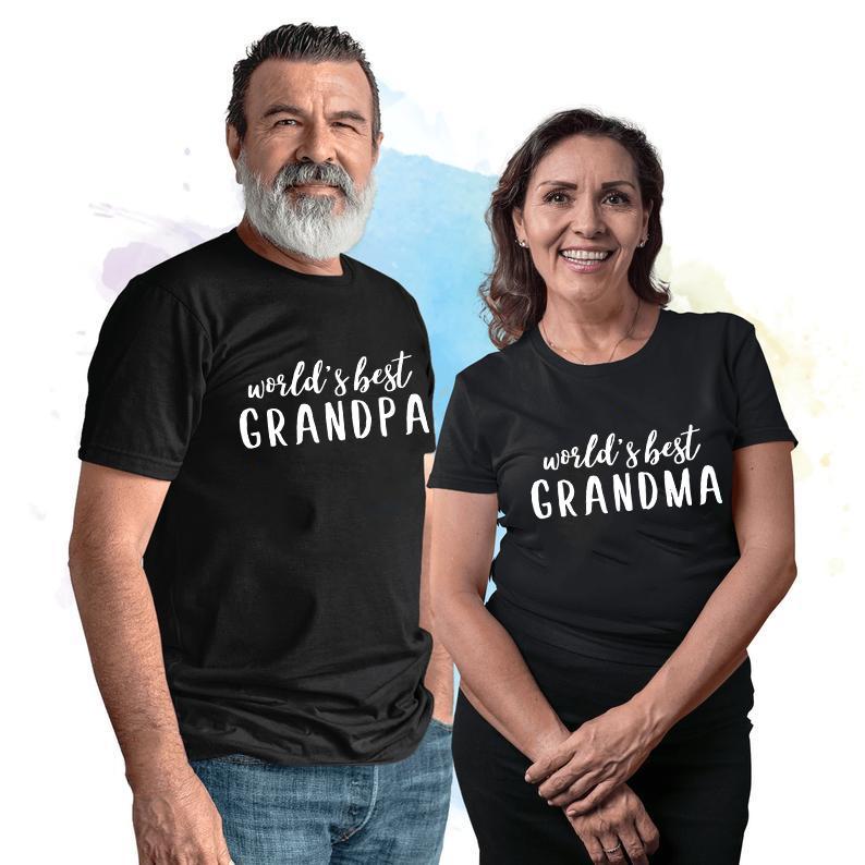 Oma, Opa T-Shirt Wort bester Großvater / Großmutter Graphic T-Shirt-beiläufige kurze Hülsen Oma Opa Passende T-Shirts