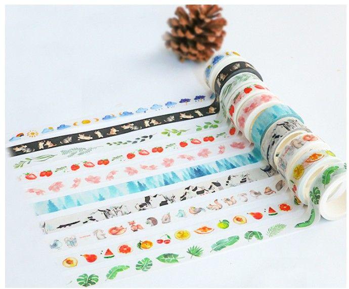 Nueva 7m * 15mm DIY de la vendimia adhesiva cinta decorativa de la flor Masking Tape Washi para la decoración casera Diario