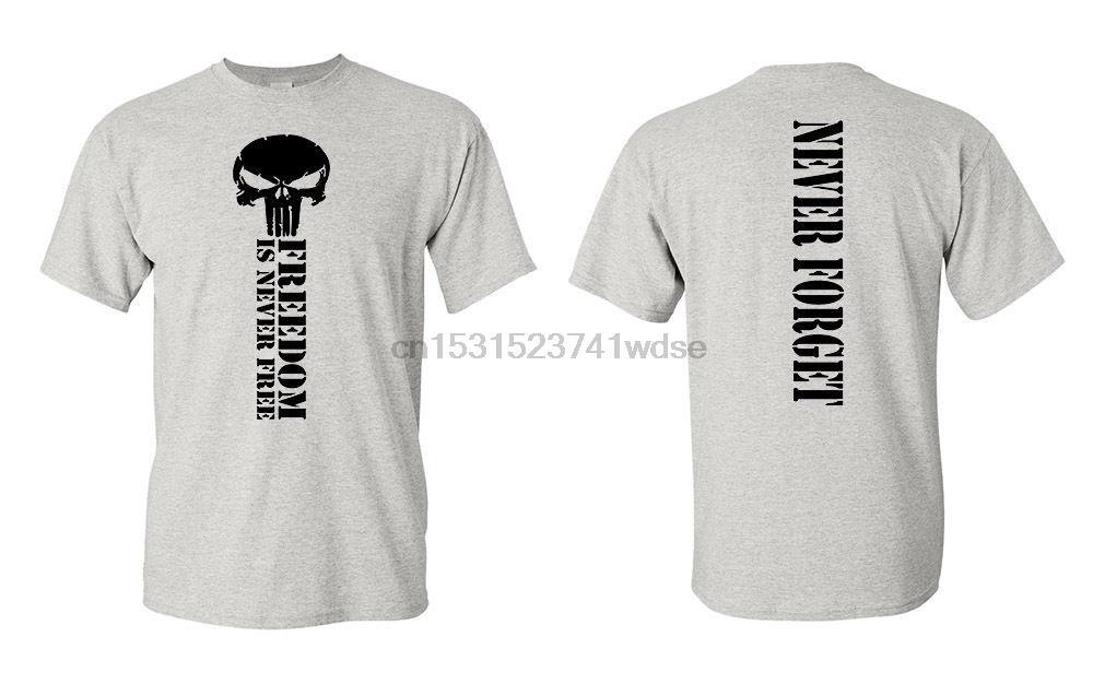 2020 Hot Sale 100% algodão Nunca esqueça Usa 2nd Amendment T-shirt Armas militares Armas gráfico Camiseta
