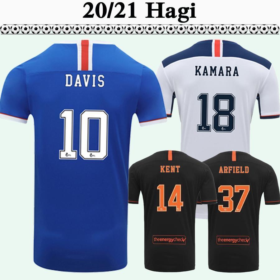 Katic GLASGOW DAVIS Futbol Formalar 2020 21 Morelos TAVERNIER MURPHY KENT JACK LAFFERTY Arfield RANGERS DOCHERTY Futbol gömlek