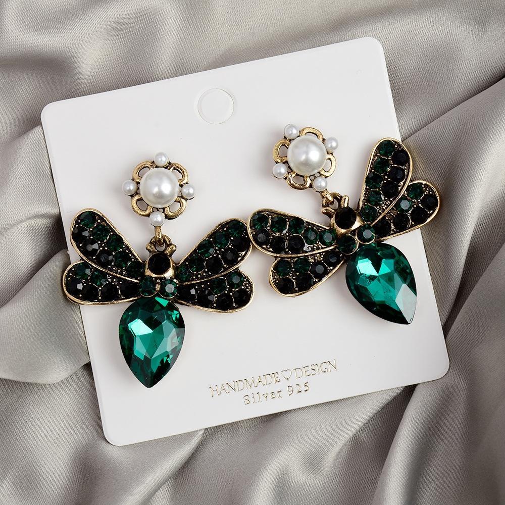 pendiente de la aleación de Fahion Tyle bohemio joyas mariposa mariposa para el oído s de las mujeres del diamante joyería personalizada anillo de oído exagerada