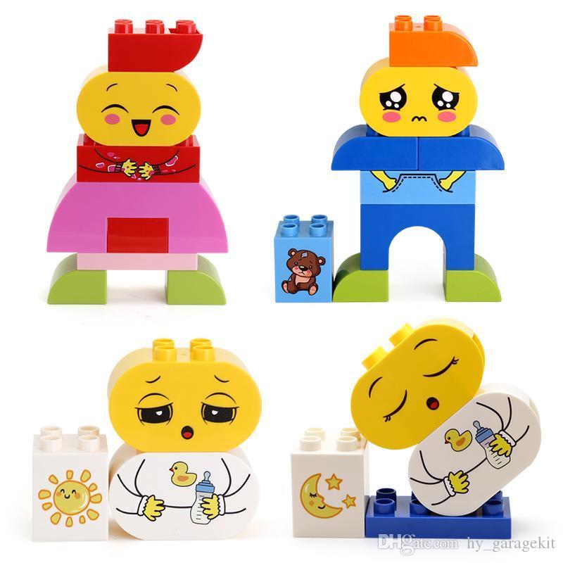 Changement de modèle d'expression des blocs de construction casse-tête haute qualité toy boy particules assemblage grand et fille 63pcs