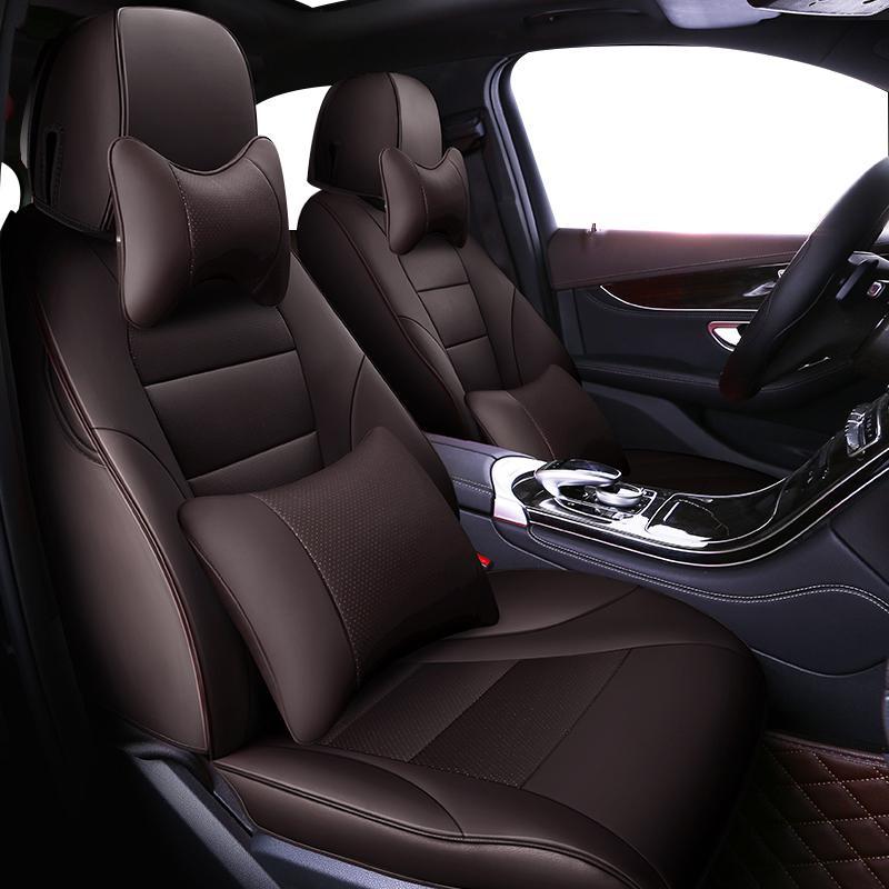 Cubiertas del asiento de coche personalizado para ZHOUSHENGLEE Serie 7 F01 F02 F03 F04 G11 G12 E65 / E84 66 X1 accesorios del coche F48 F49 cojín de auto