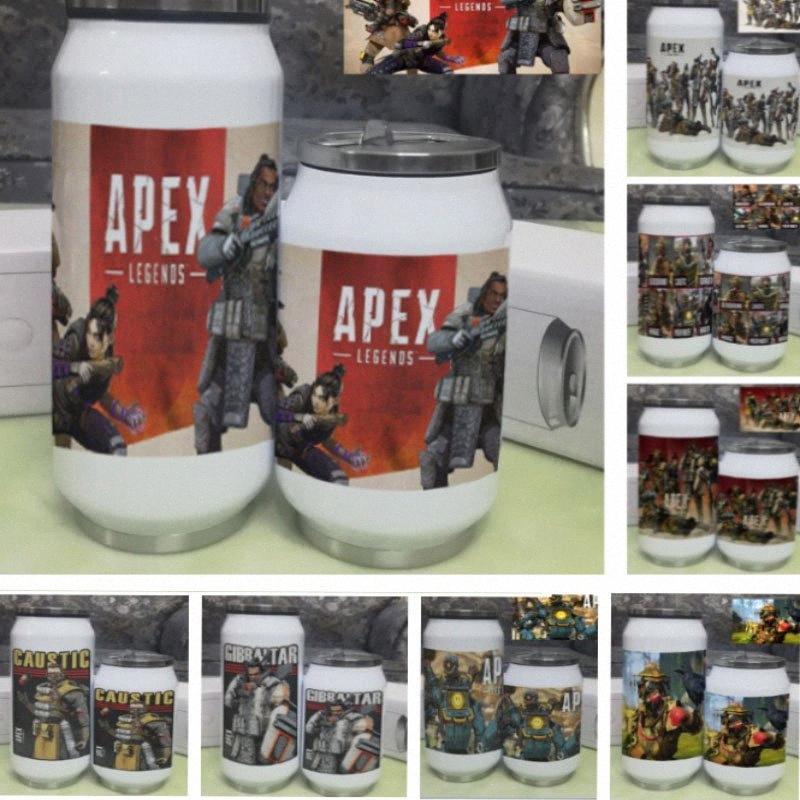 Apex Legends Can Caneca do copo 500ml 350 ml garrafa de água a vácuo de aço inoxidável ao ar livre Duplas Thermos Cup HH7 2006 Encomendar canecas Onli B5RZ #