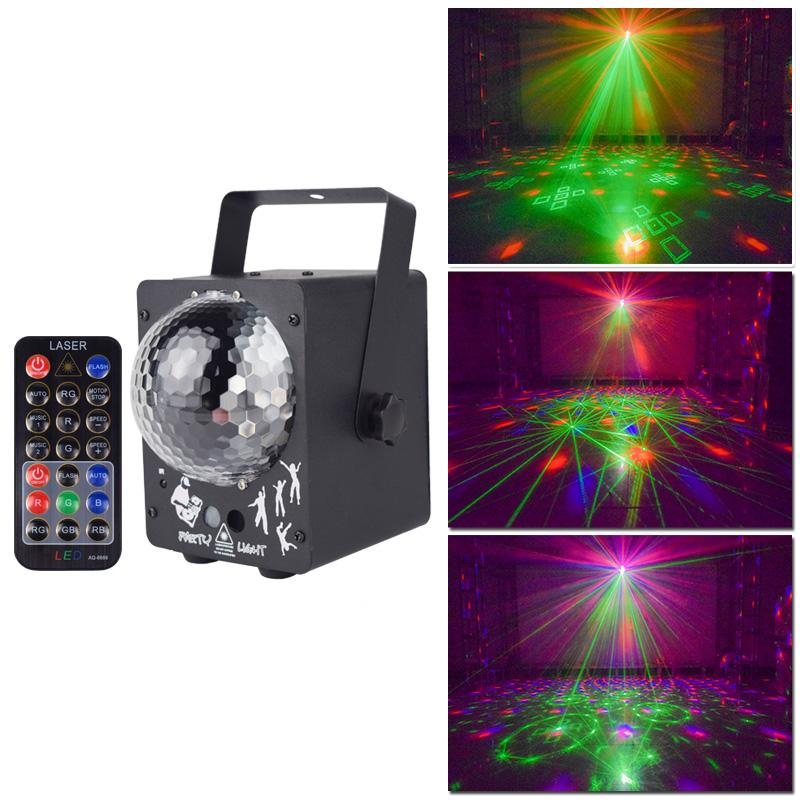 Disco Laser Light RGB Projector Lighting Party Lights DJ Lighting Effect for Stage LED for Home Wedding Party Decoration
