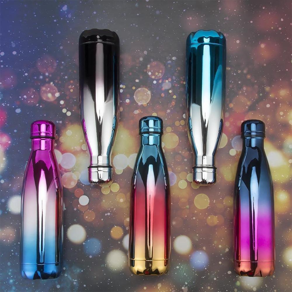 Botellas De Agua UV Coca-Cola Copos garrafa de parede dupla com isolamento a vácuo garrafa Botellas De Agua água de aço inoxidável garrafas de esporte garrafa térmica de água
