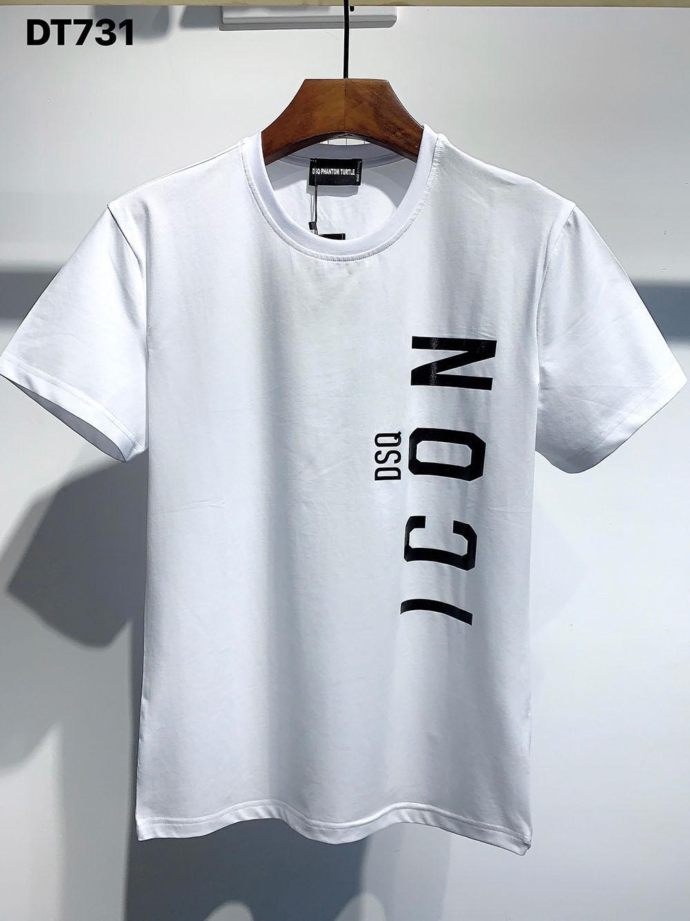 DSQ PHANTOM TORTUE 2020FW New Mens Designer T-shirt Italie mode T-shirts d'été DSQ Motif T-shirt Homme Top qualité 100% coton Top 7545